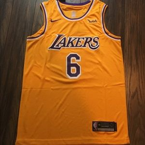 LeBron James Lakers Jersey 6 Yellow Men's M